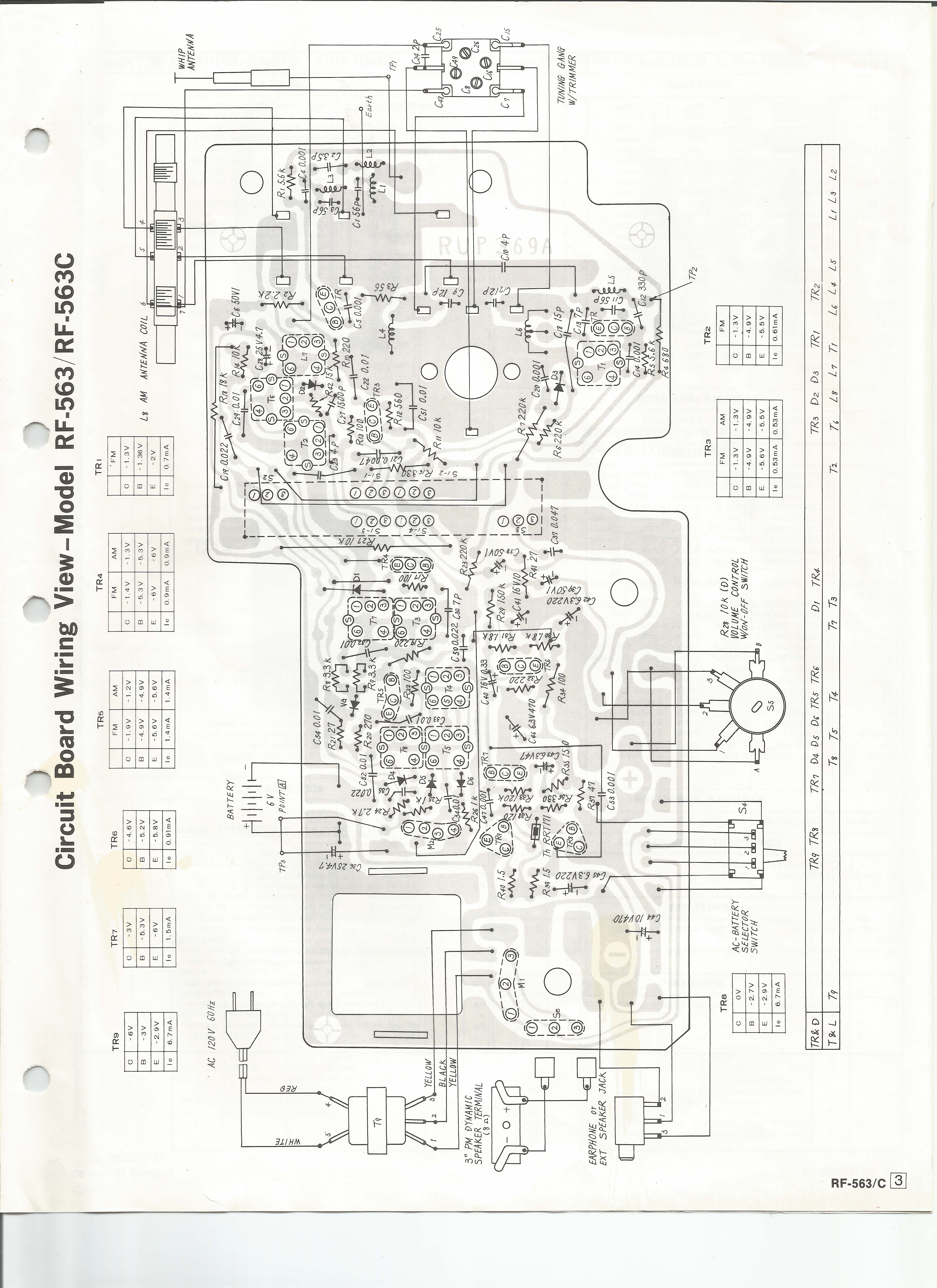 Panasonic Rf 563html Fm Radio Circuit Schematic Diagram 563 Am Radioparts Layout