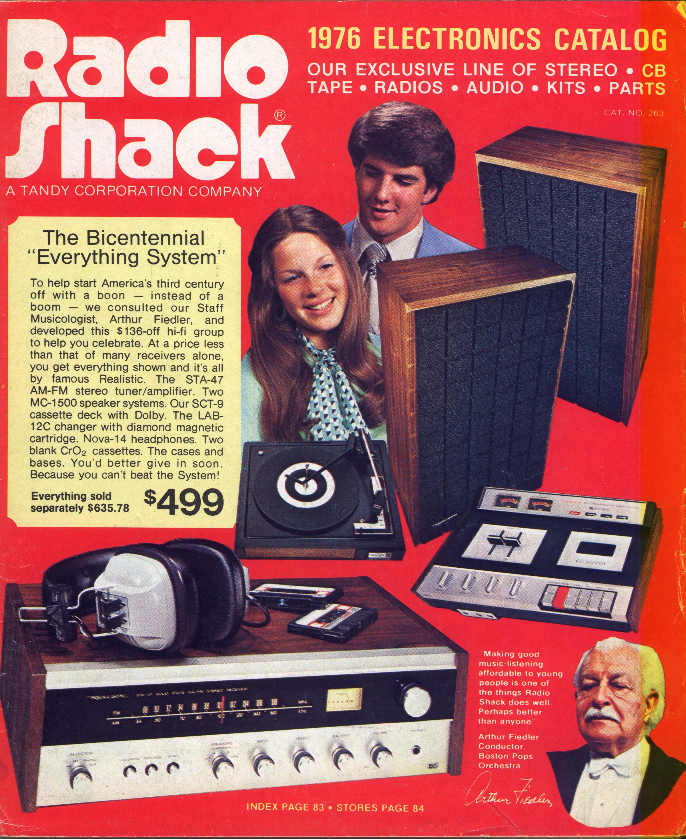 Radio Shack 1976 front cover