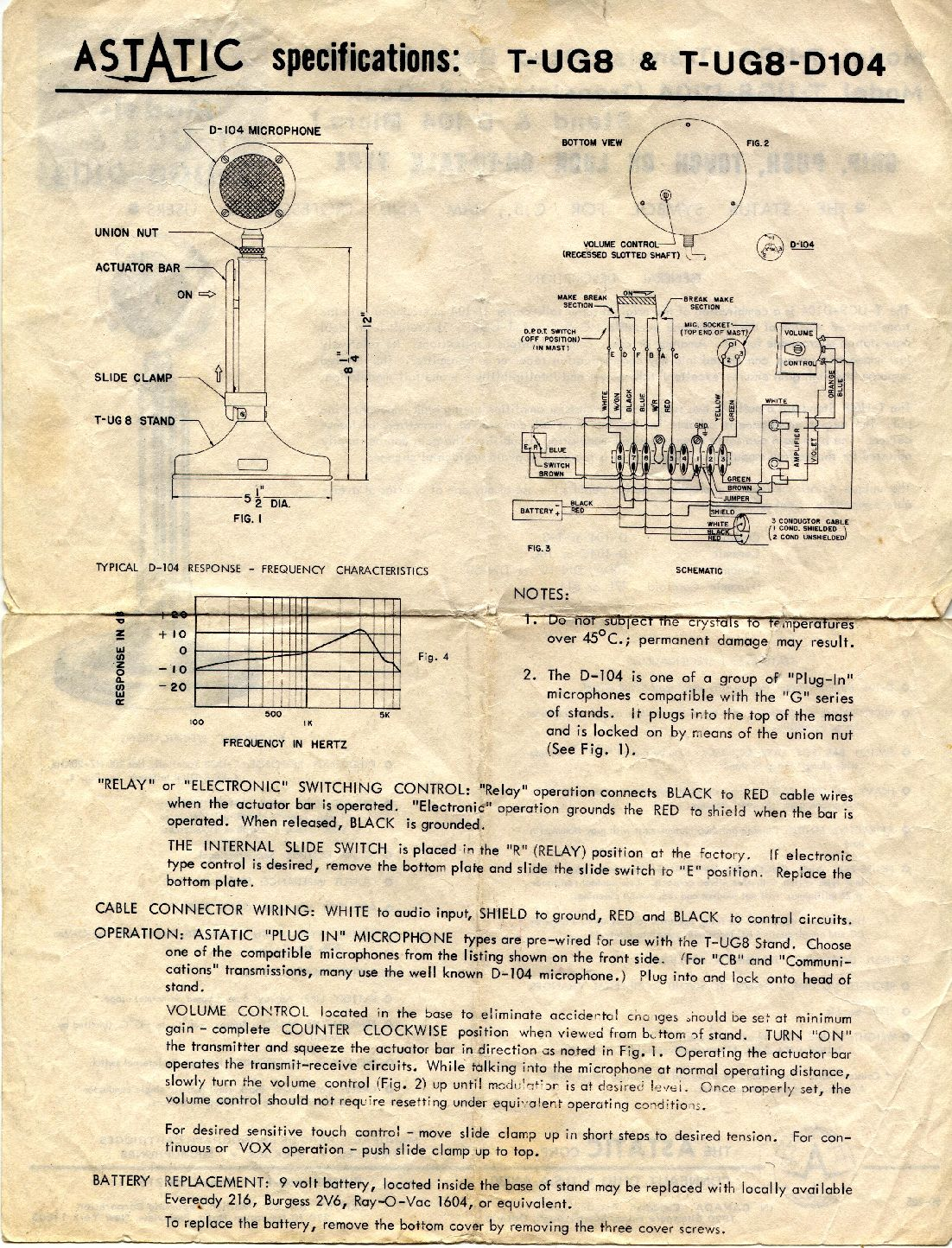 free download silver series wiring diagram astatic d 104 papers from 1977 #2