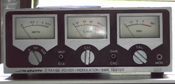 Vintage watt/swr/modulation meters